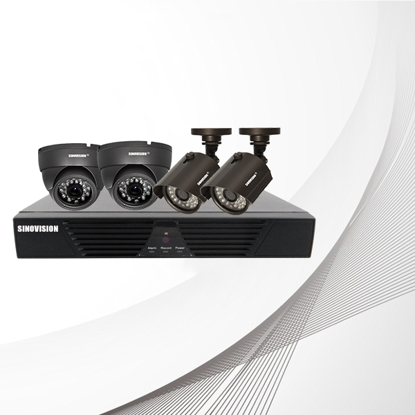 Sinovision 4CH AHD DIY CCTV Camera Kit