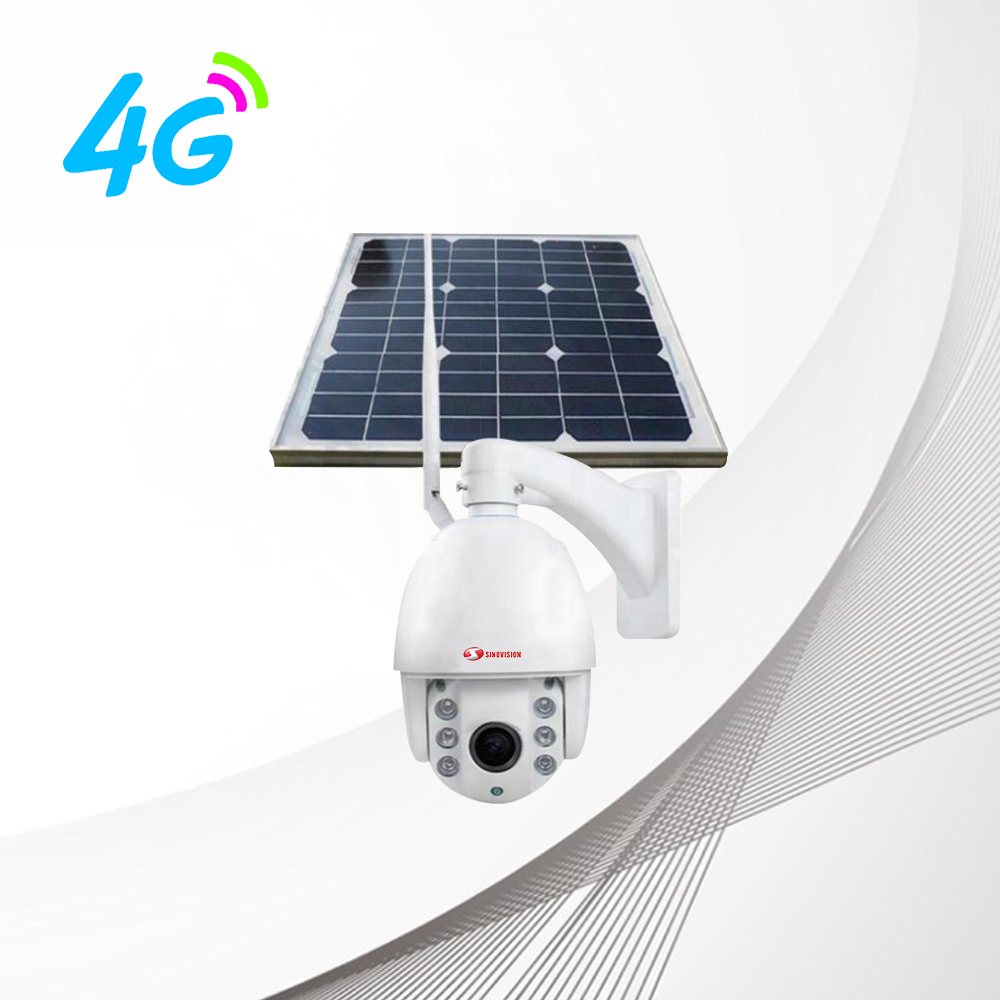 Sinovision 1080P 5x Optical Zoom 4G Solar Panel PTZ Camera