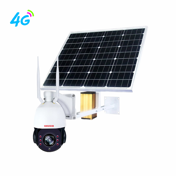 Sinovision1080P 5x Optical Zoom 4G Solar Panel PTZ Camera
